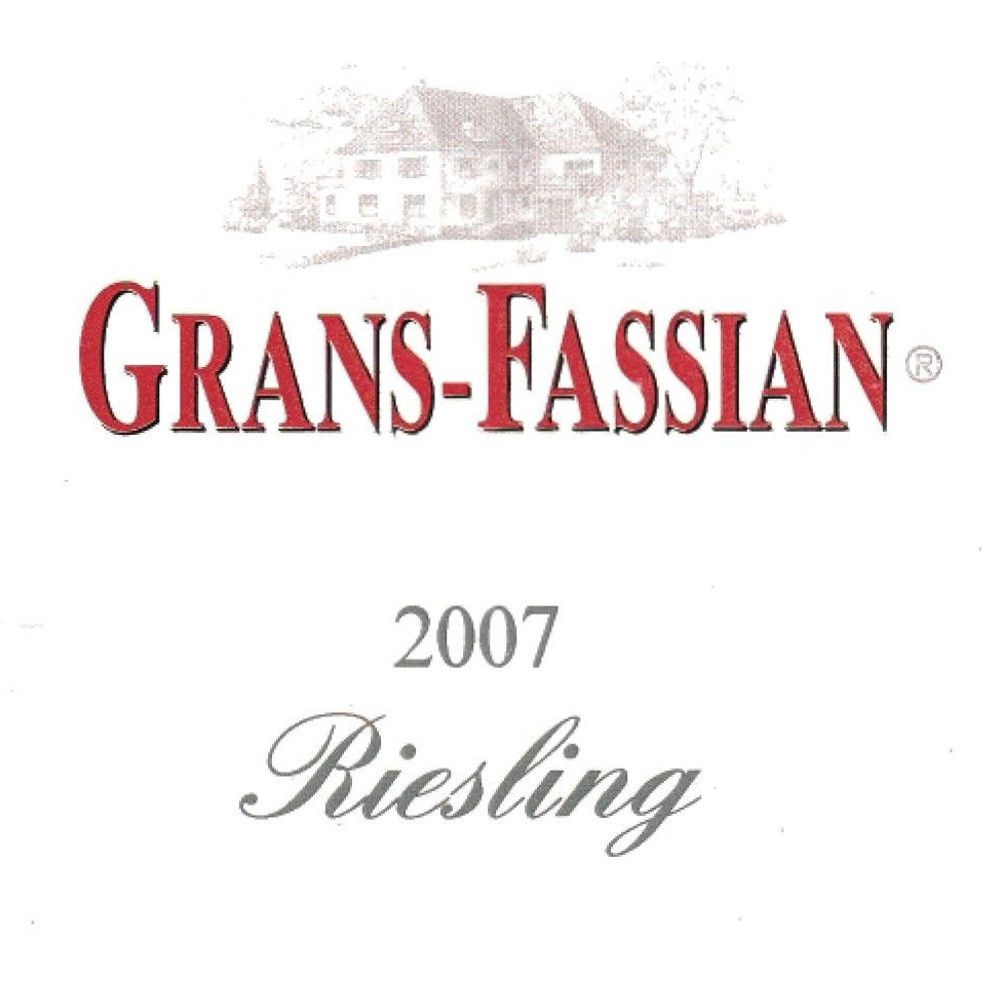 Grans-Fassian Riesling 2007 Front Label