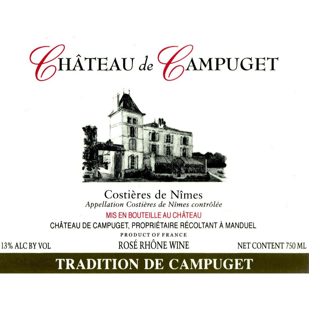 Chateau de Campuget Tradition Rose 2009 Front Label
