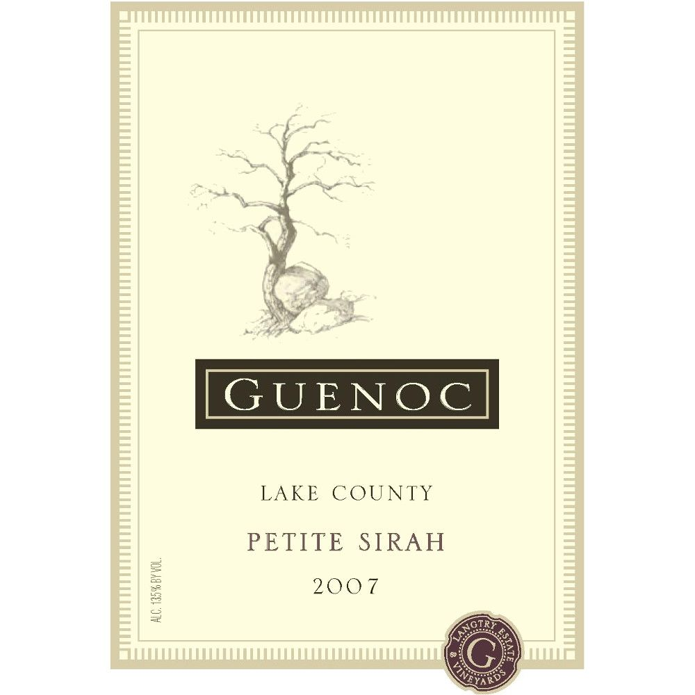 Guenoc Lake County Petite Sirah 2007 Front Label