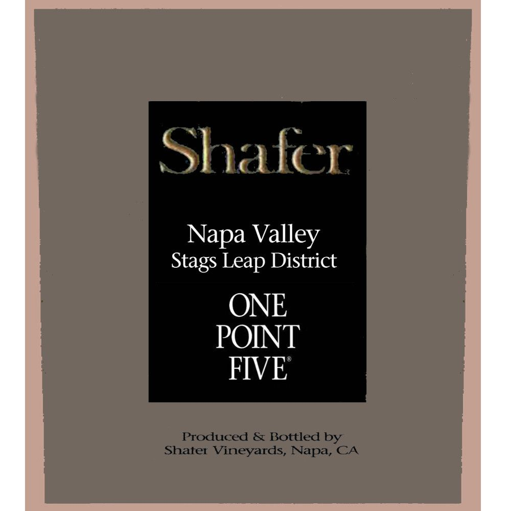 Shafer One Point Five Cabernet Sauvignon 2007 Front Label