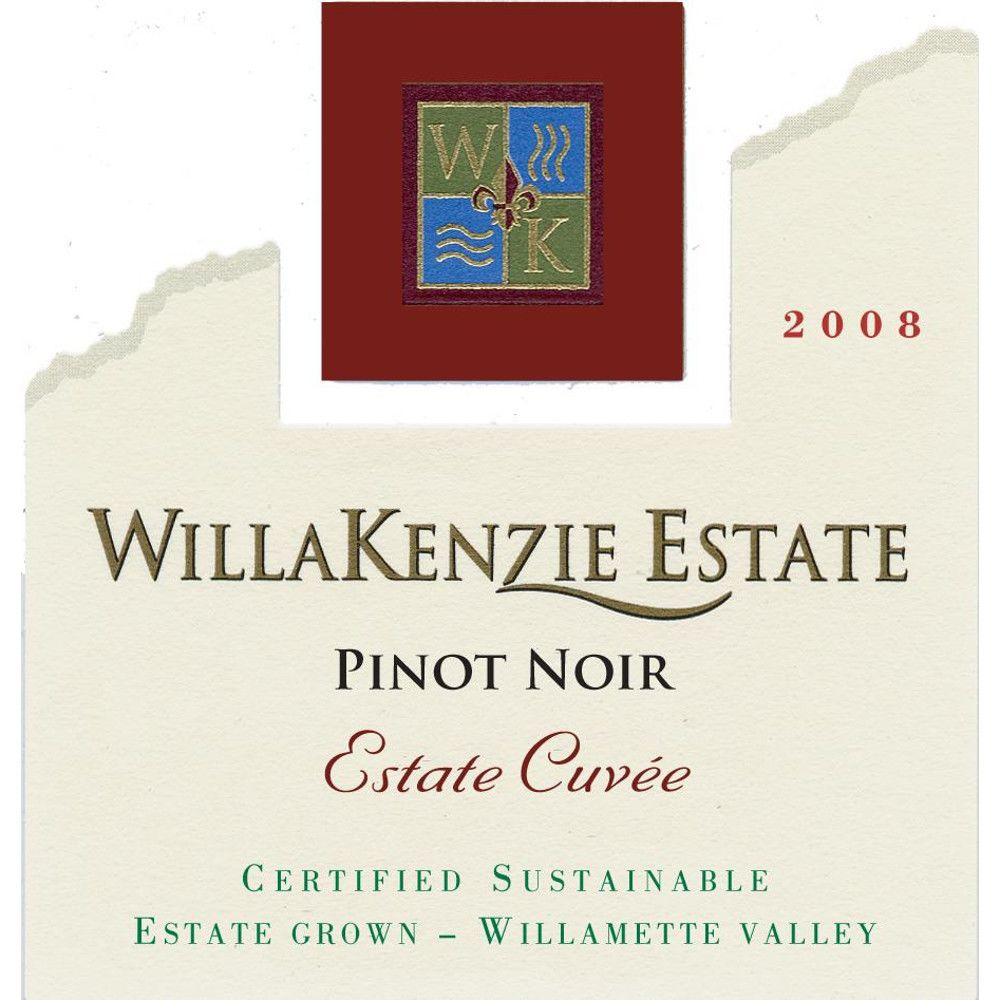 WillaKenzie Estate Estate Cuvee Pinot Noir 2008 Front Label