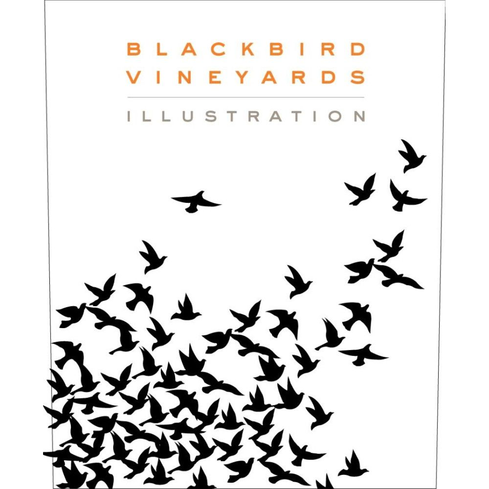 Blackbird Vineyards Illustration Proprietary Red 2007 Front Label