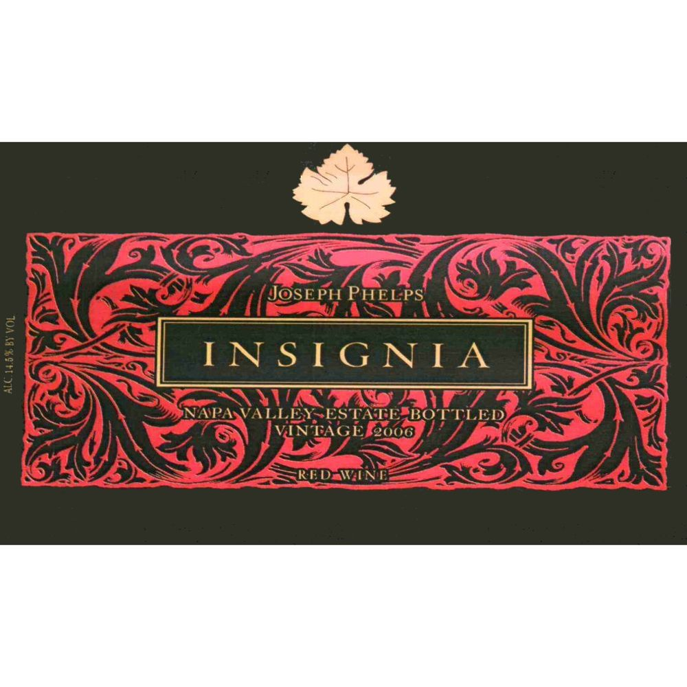 Joseph Phelps Insignia (375ML half-bottle) 2006 Front Label