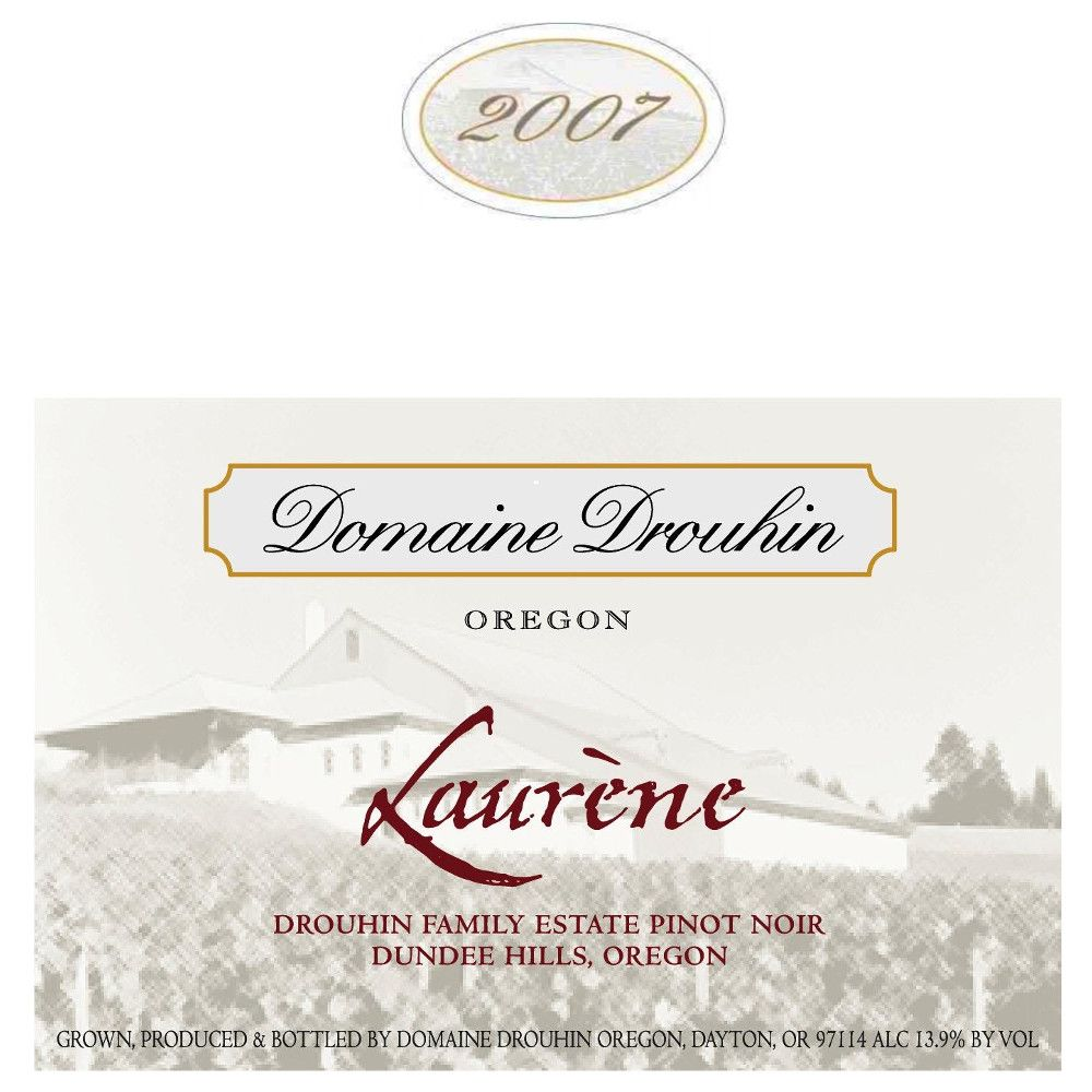 Domaine Drouhin Oregon Laurene Pinot Noir 2007 Front Label