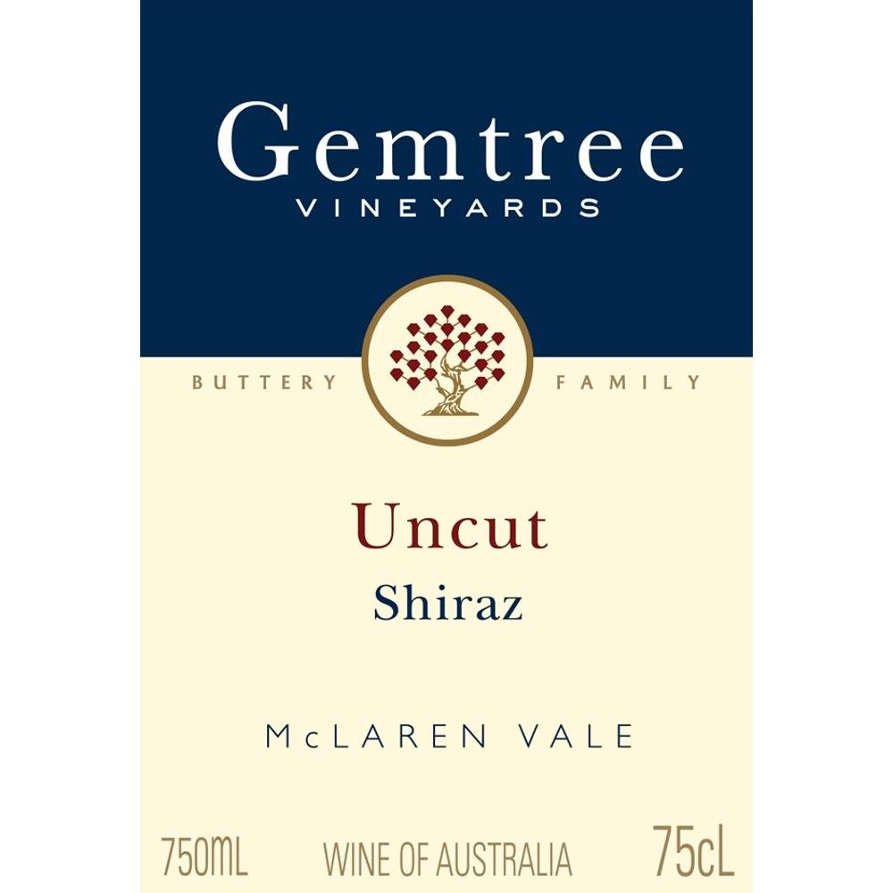 Gemtree Vineyards Uncut Shiraz 2008 Front Label