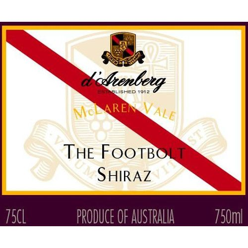 d'Arenberg The Footbolt Shiraz 2008 Front Label