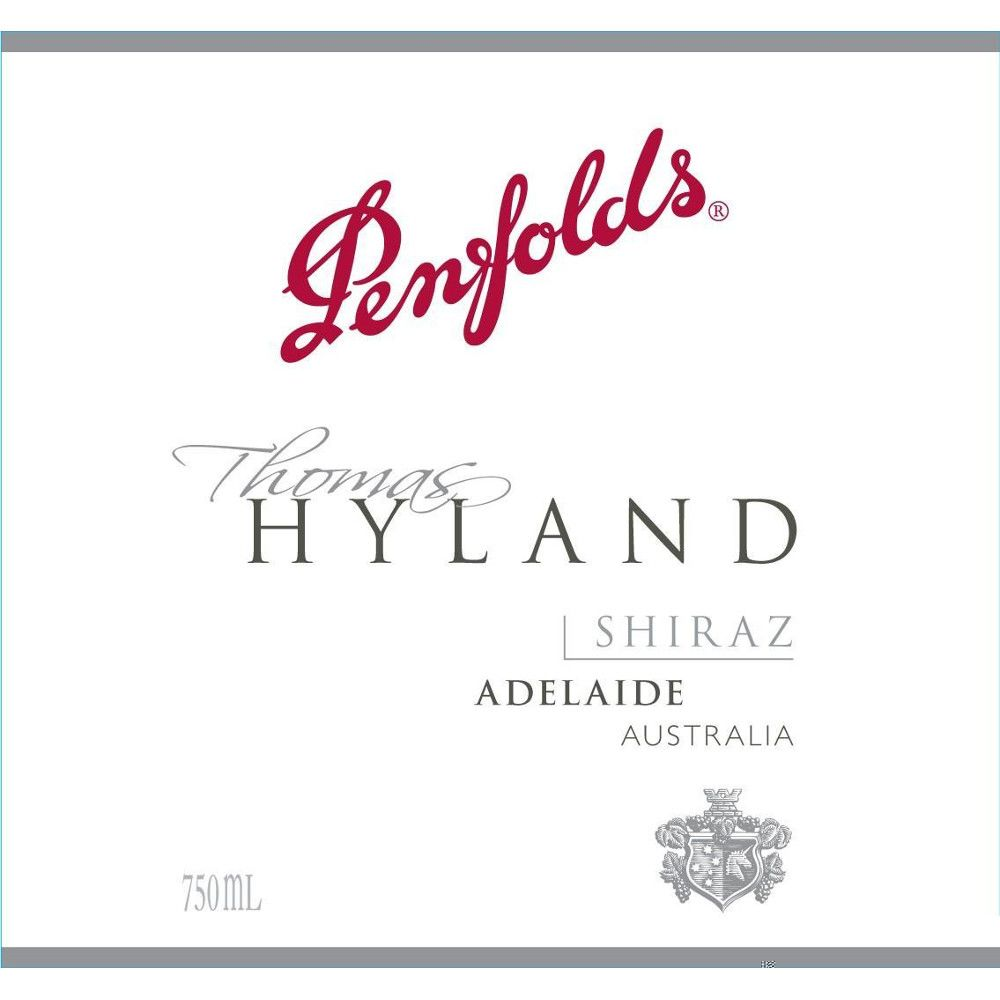 Penfolds Thomas Hyland Shiraz 2008 Front Label