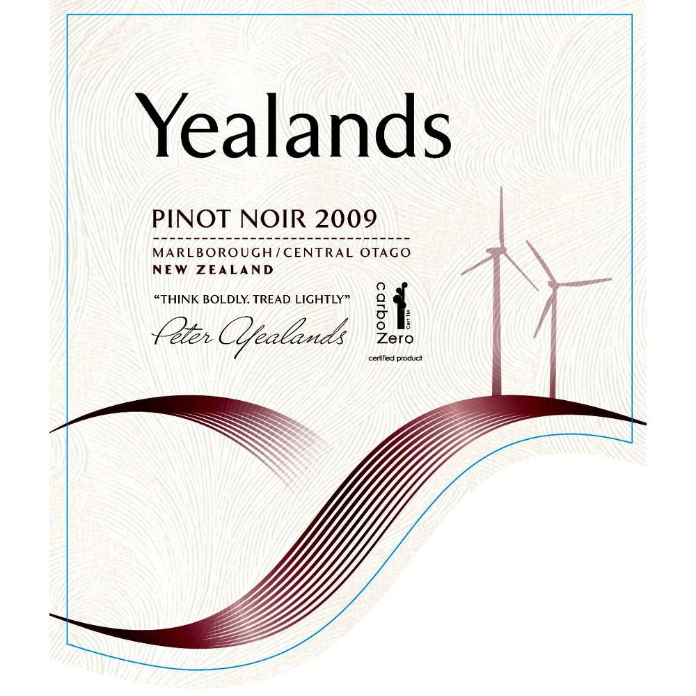 Yealands Pinot Noir 2009 Front Label