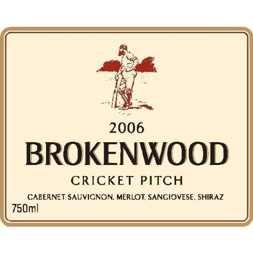 Brokenwood Cricket Pitch Red 2006 Front Label