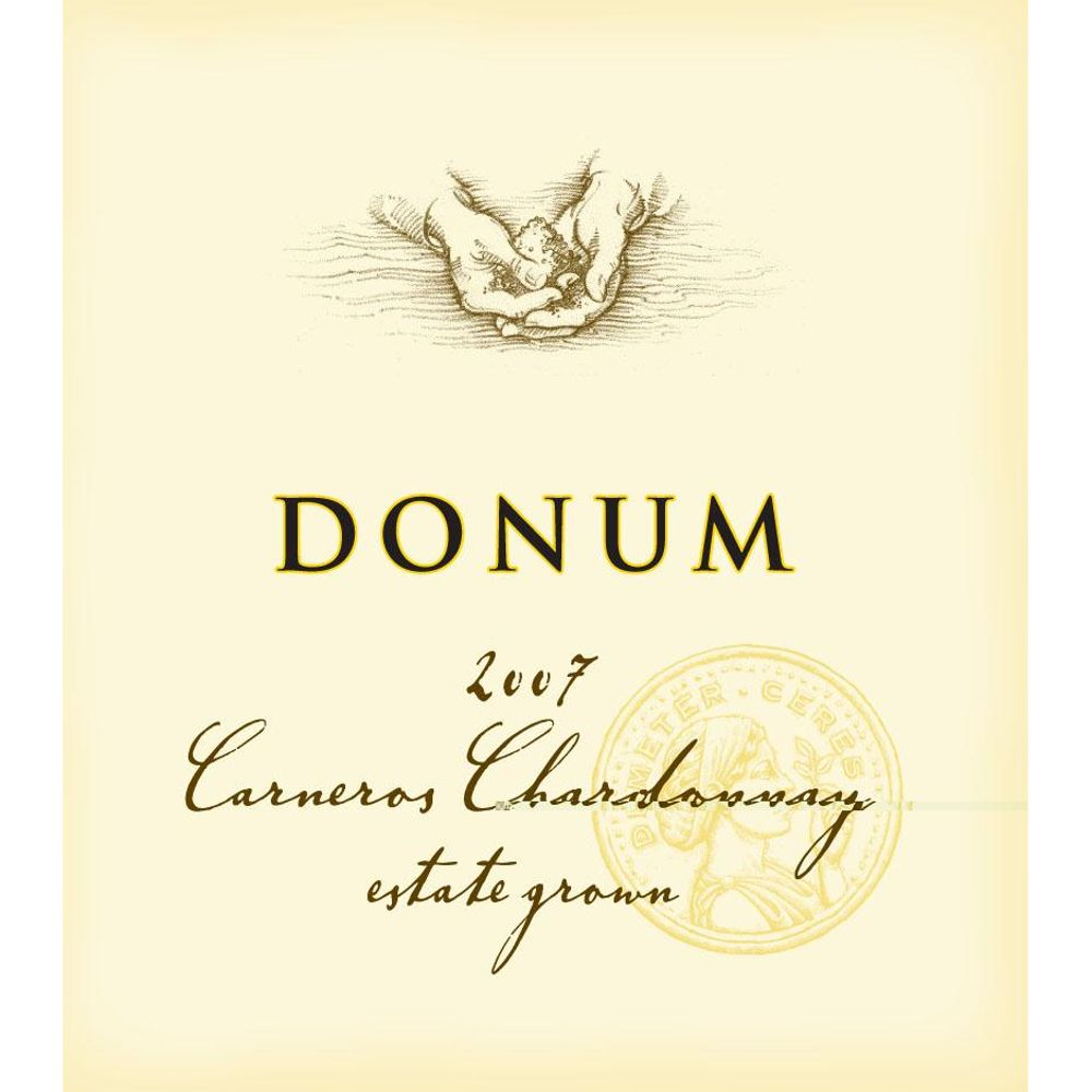 The Donum Estate Carneros Chardonnay 2007 Front Label
