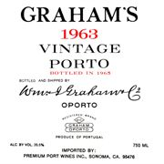 Graham's Vintage Port 1963 Front Label