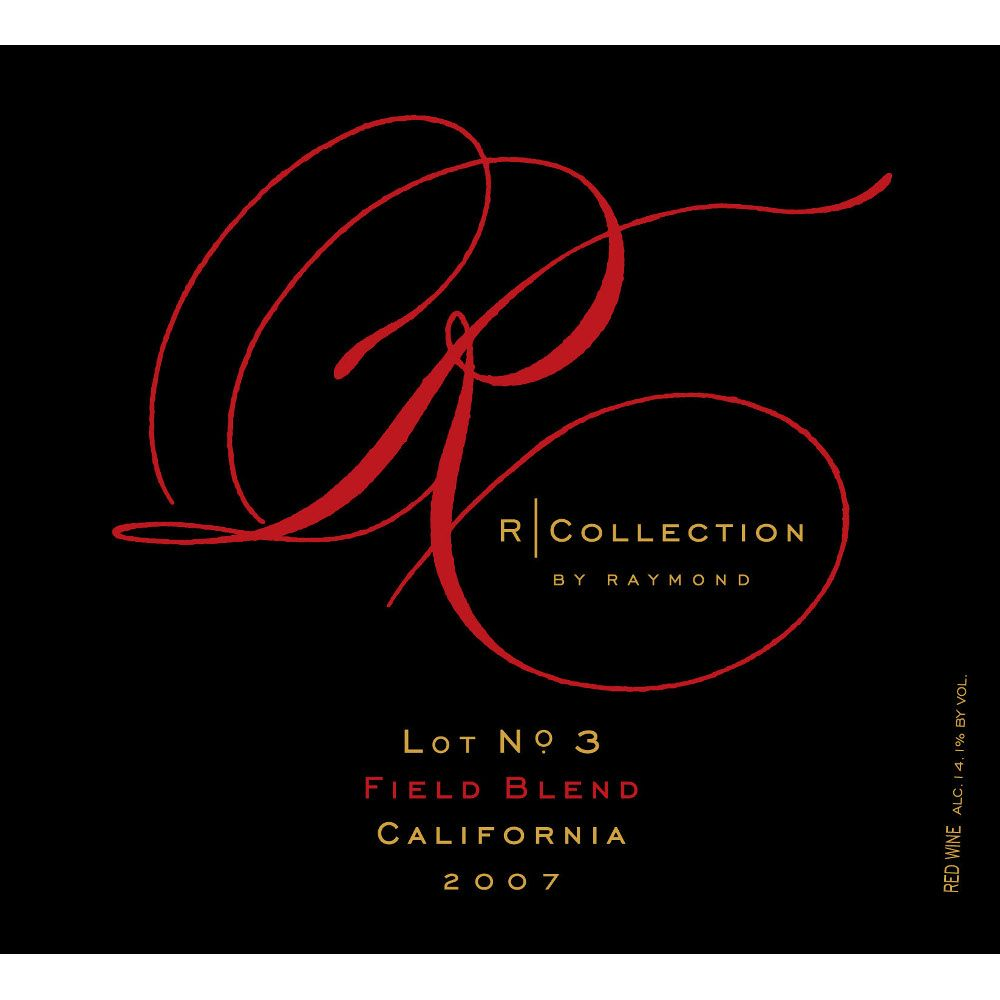 Raymond Field Blend R Collection 2007 Front Label