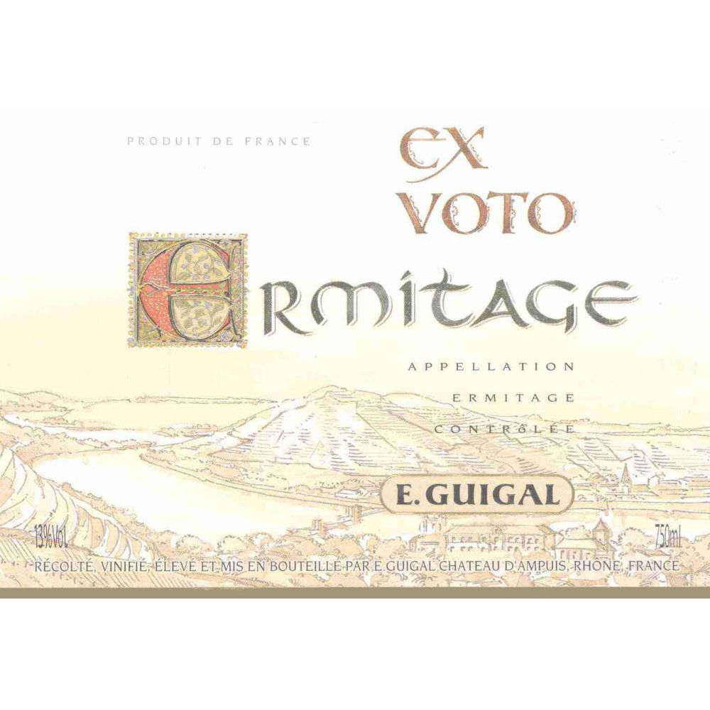 Guigal Ermitage Ex Voto Rouge 2006 Front Label