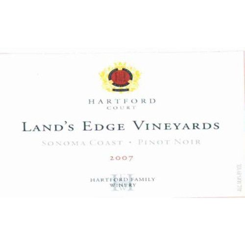 Hartford Court Land's Edge Pinot Noir 2007 Front Label