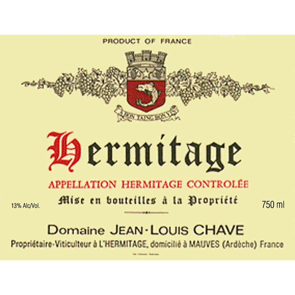 Jean-Louis Chave Hermitage 2006 Front Label