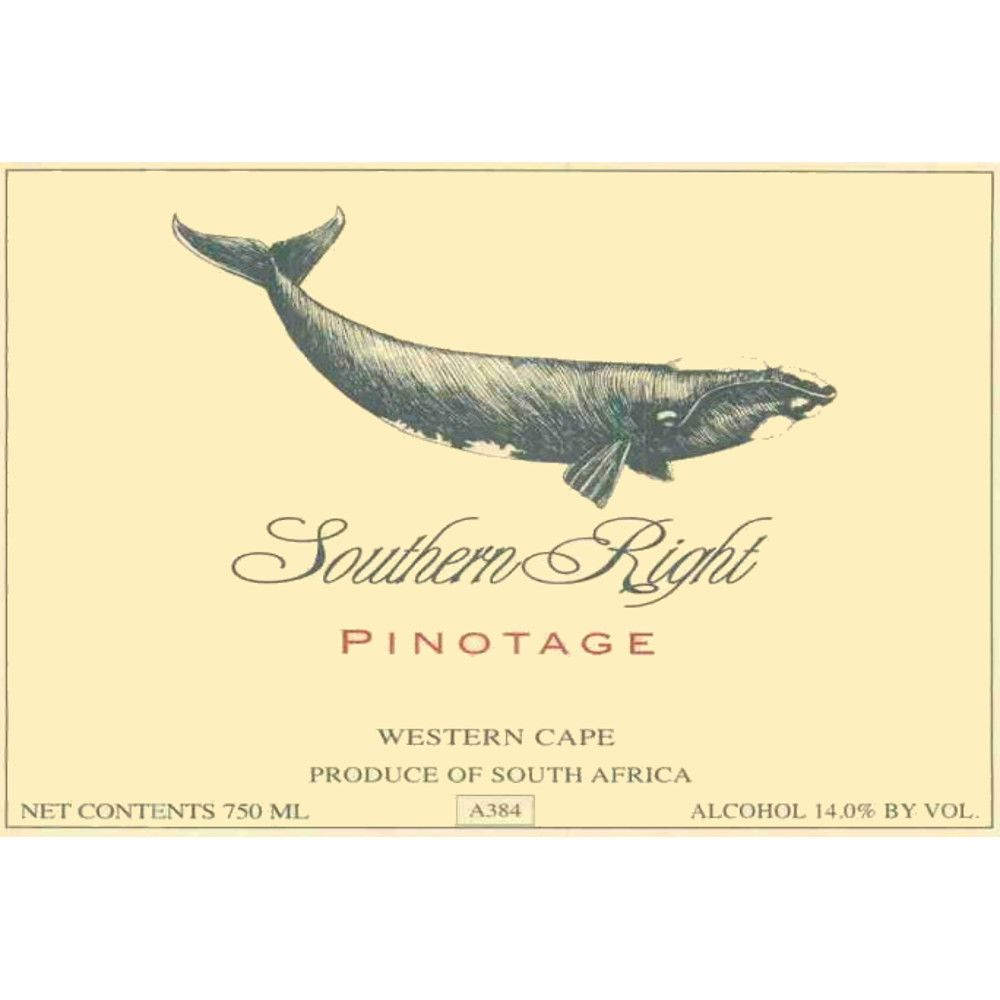 Southern Right Pinotage 2008 Front Label