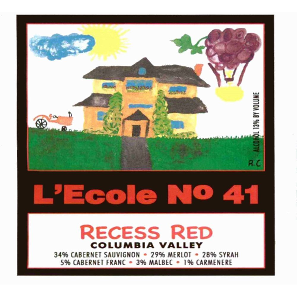 L'Ecole 41 Recess Red 2008 Front Label