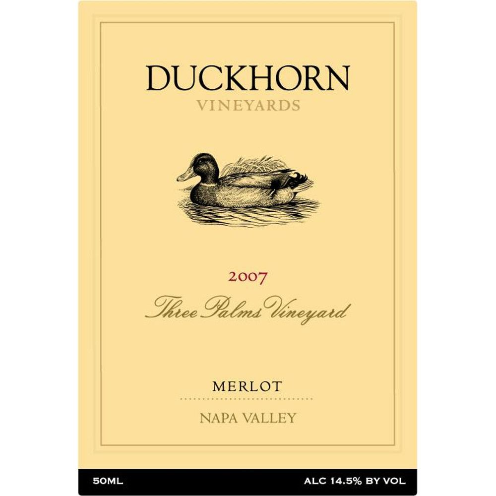 Duckhorn Napa Valley Merlot (375ML half-bottle) 2007 Front Label