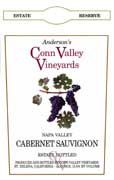Anderson's Conn Valley Vineyards Cabernet Sauvignon Reserve (375ML half-bottle) 2007 Front Label