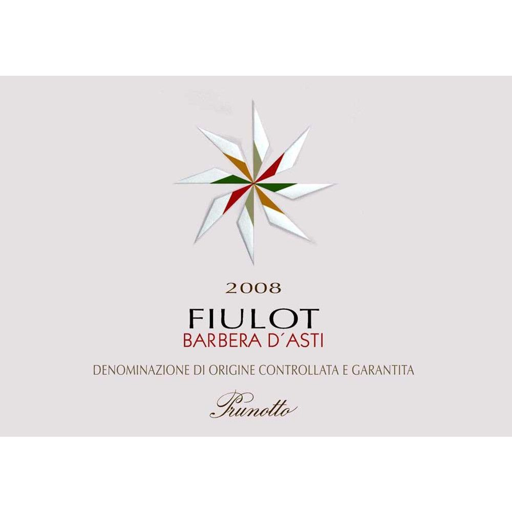 Prunotto Fiulot Barbera d'Asti 2008 Front Label