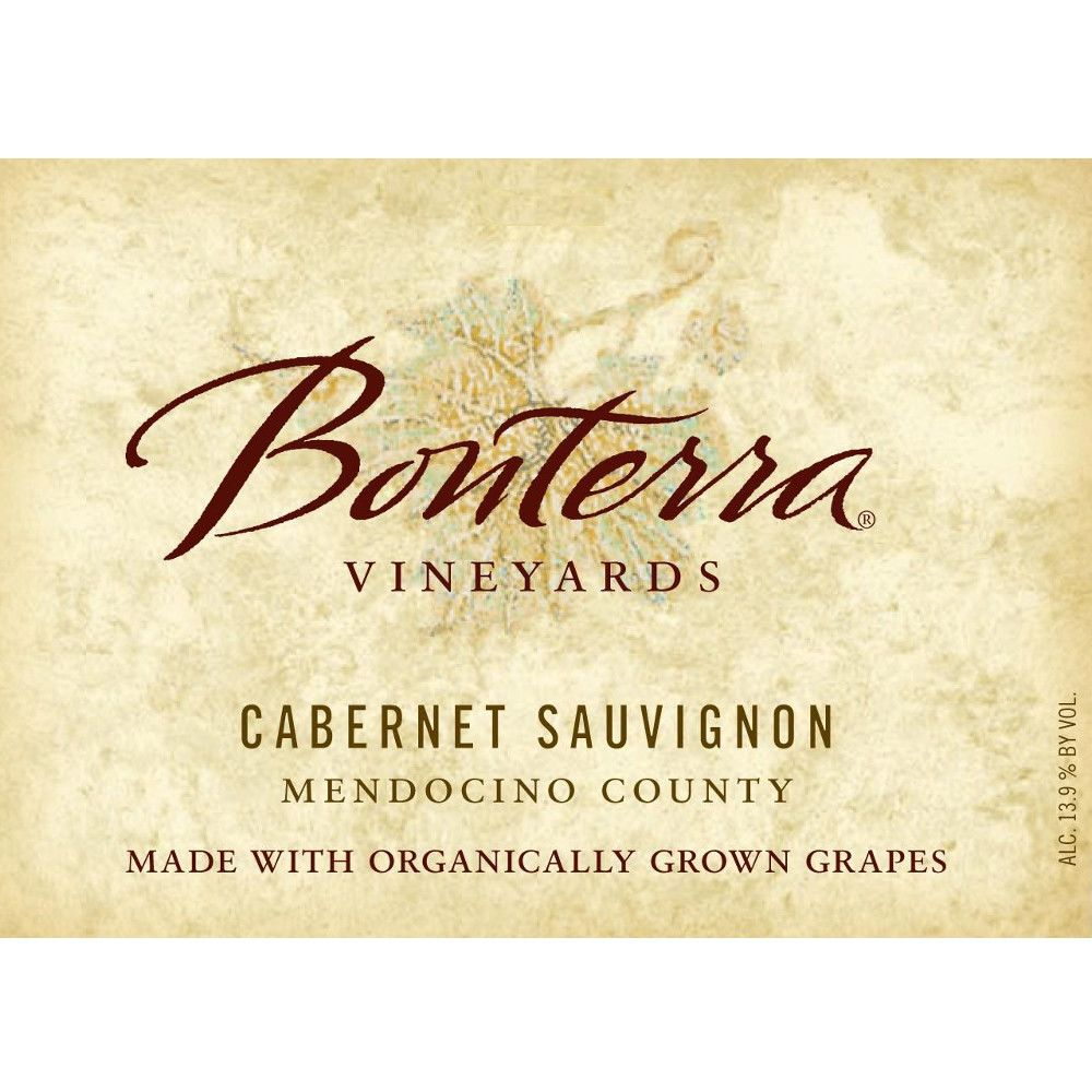 Bonterra Organically Grown Cabernet Sauvignon 2008 Front Label