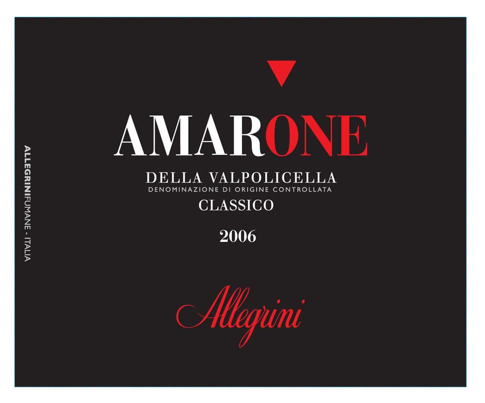 Allegrini Amarone 2006 Front Label