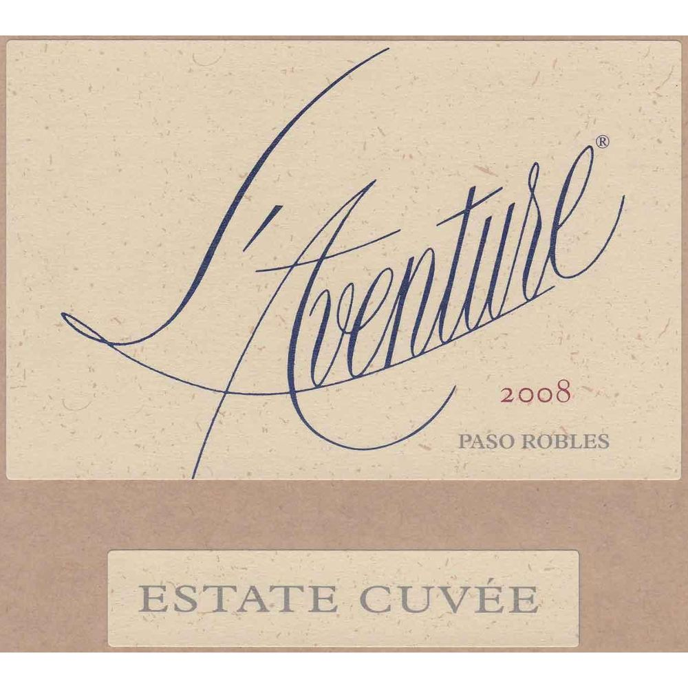L'Aventure Estate Cuvee 2008 Front Label