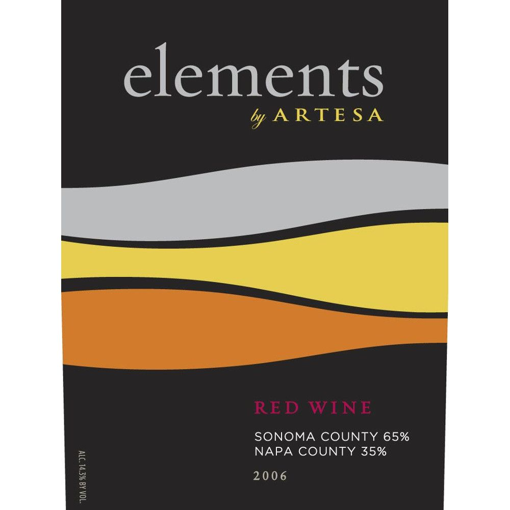Elements by Artesa Red 2006 Front Label