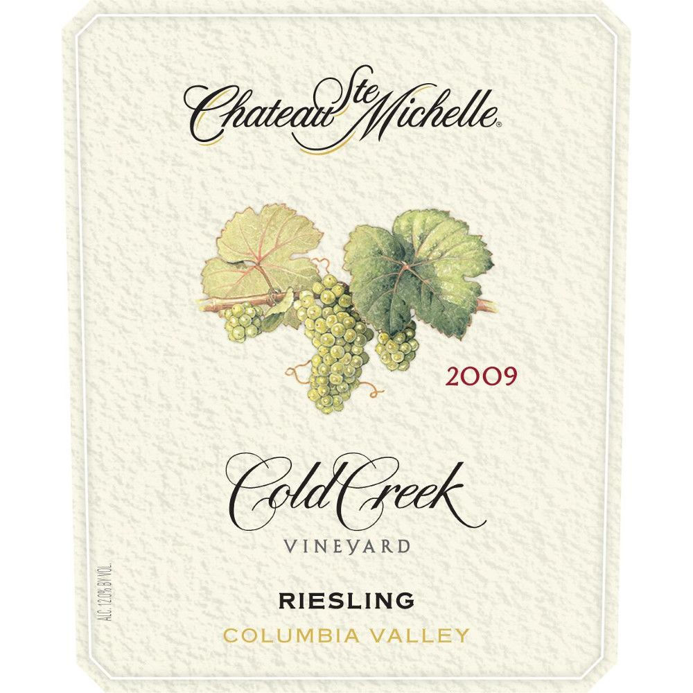 Chateau Ste. Michelle Cold Creek Vineyard Riesling 2009 Front Label