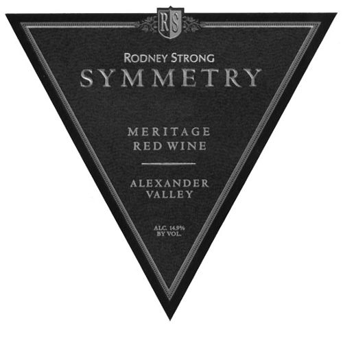 Rodney Strong Symmetry Meritage 2007 Front Label
