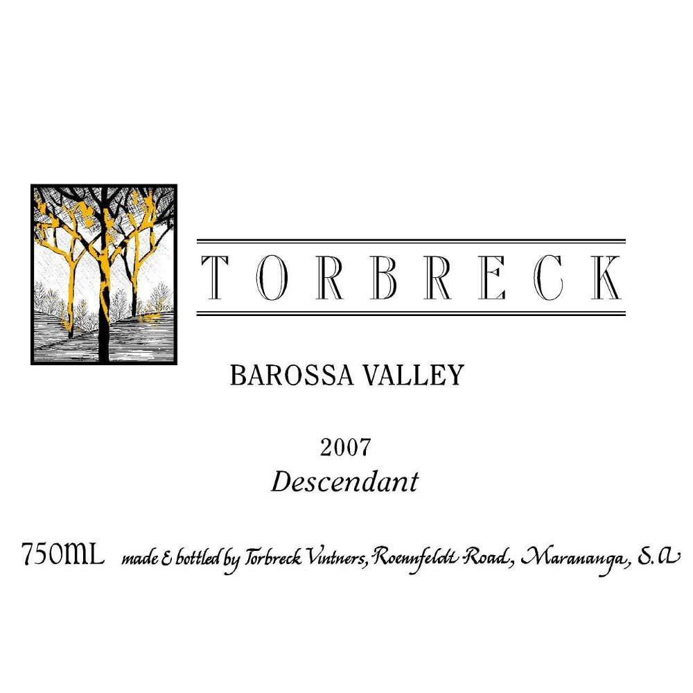 Torbreck Descendant Shiraz 2007 Front Label