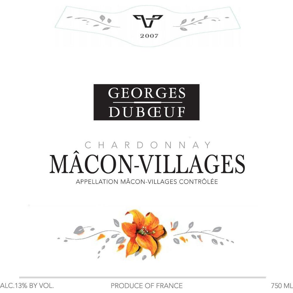 Duboeuf Macon Villages 2007 Front Label