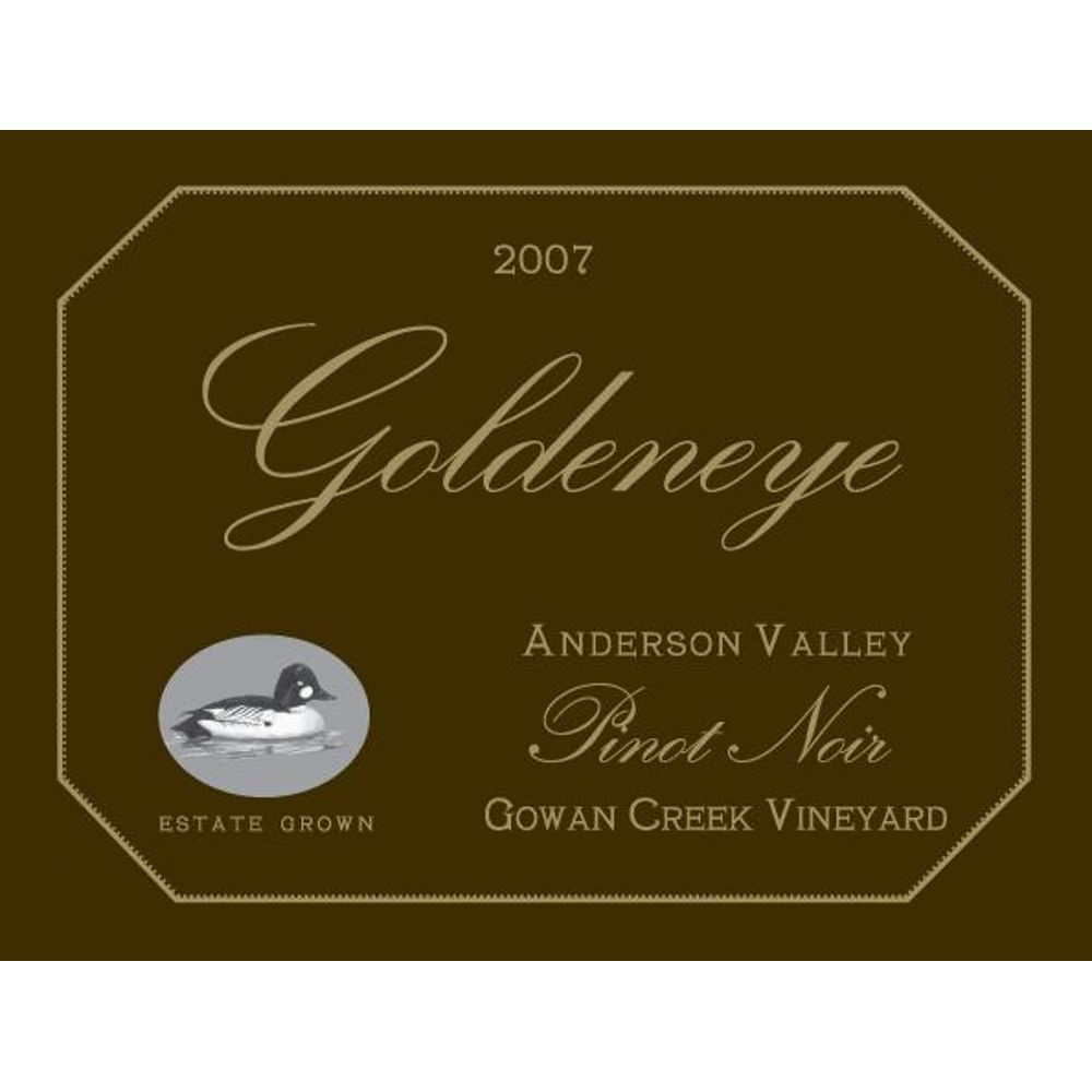 Goldeneye Gowan Creek Vineyard Pinot Noir 2007 Front Label