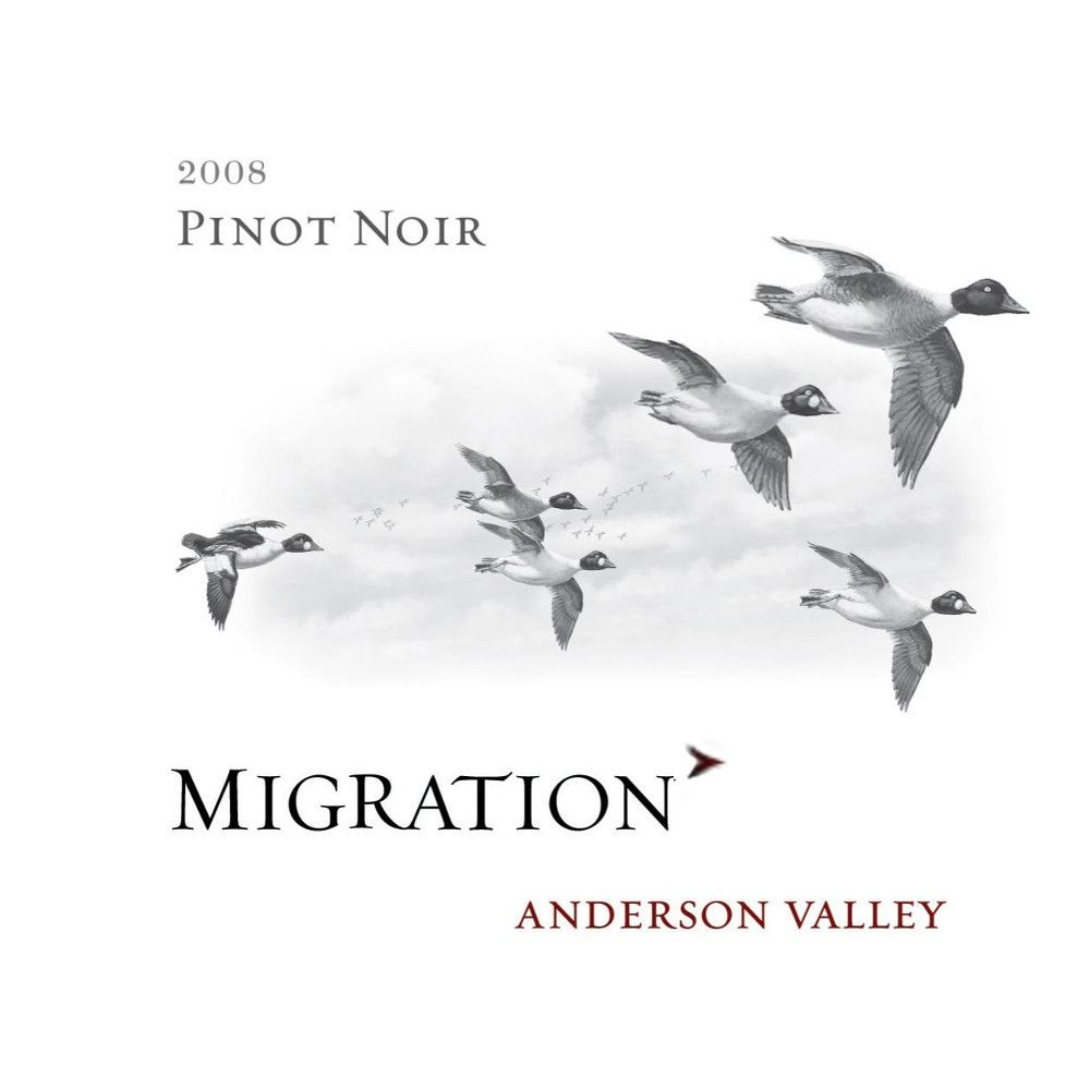 Migration Anderson Valley Pinot Noir 2008 Front Label