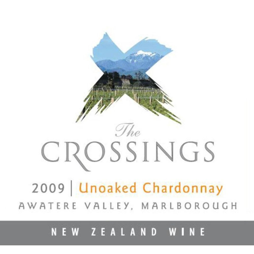 The Crossings Unoaked Chardonnay 2009 Front Label