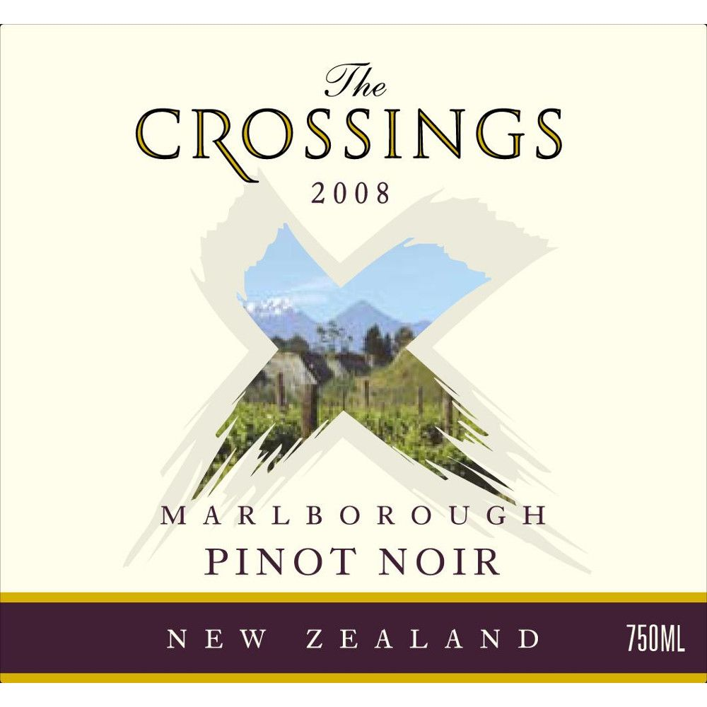 The Crossings Pinot Noir 2008 Front Label