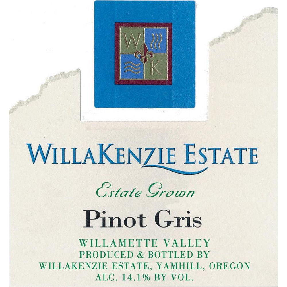 WillaKenzie Estate Pinot Gris (375ML half-bottle) 2009 Front Label