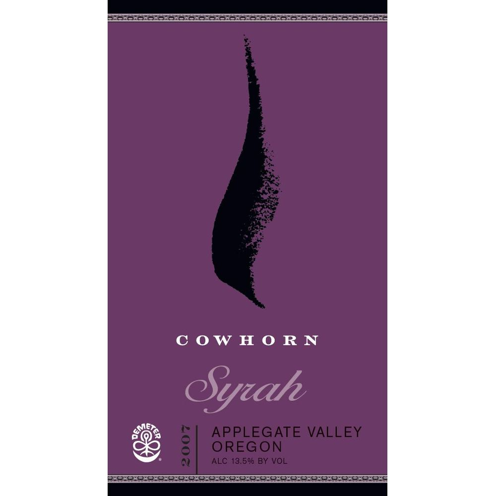 Cowhorn Syrah 2007 Front Label