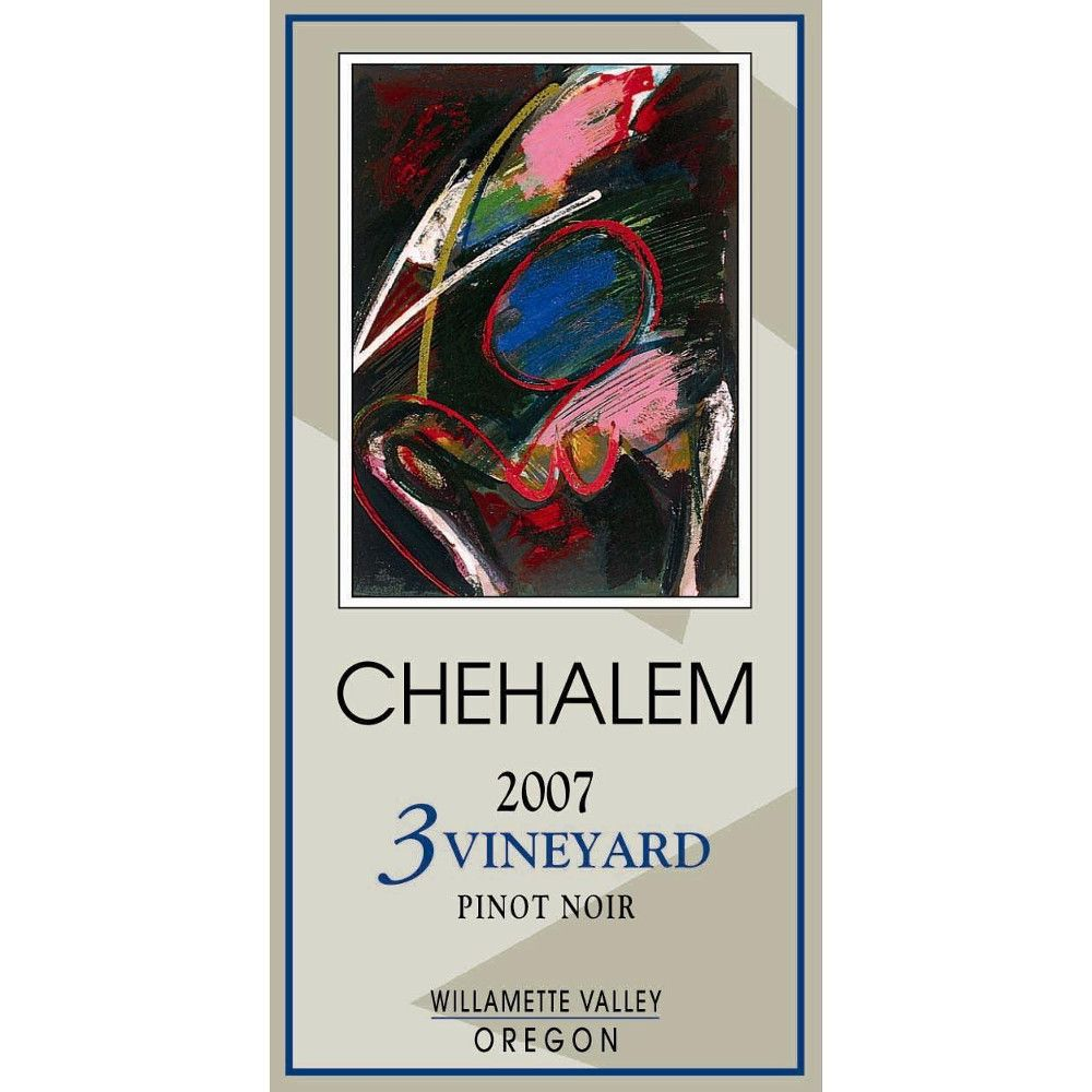 Chehalem 3 Vineyard Pinot Noir 2007 Front Label