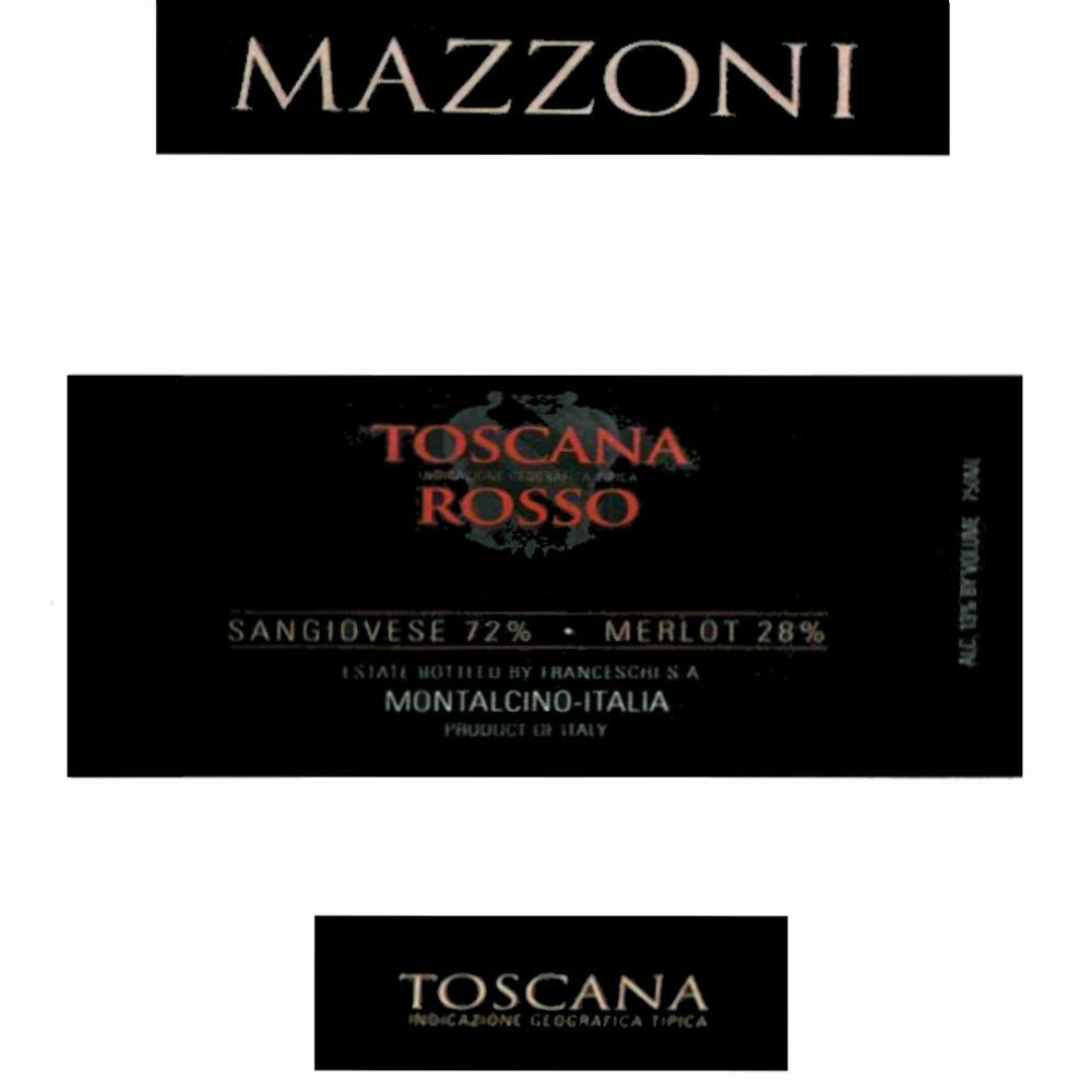 Mazzoni Toscana Rosso 2007 Front Label