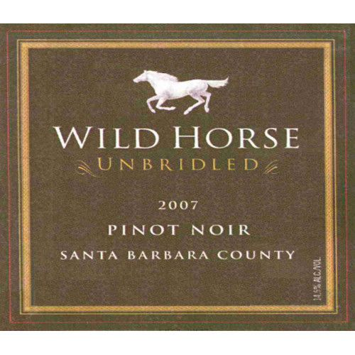 Wild Horse Unbridled Pinot Noir 2007 Front Label