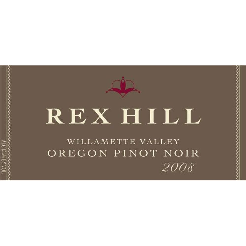 Rex Hill Willamette Valley Pinot Noir 2008 Front Label