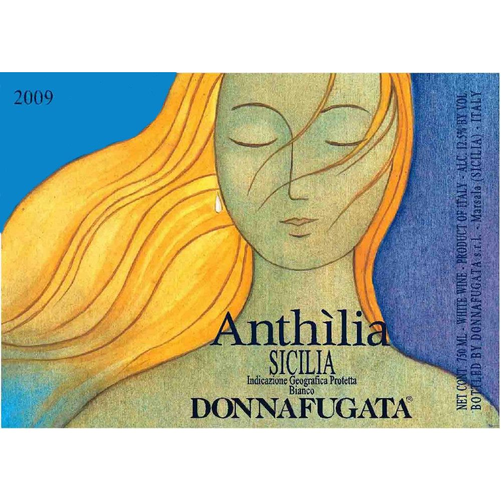 Donnafugata Anthilia 2009 Front Label