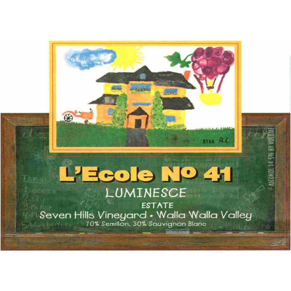 L'Ecole 41 Luminesce Seven Hills Vineyard 2008 Front Label