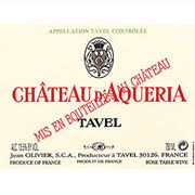 Chateau D'Aqueria Tavel Rose 2009 Front Label