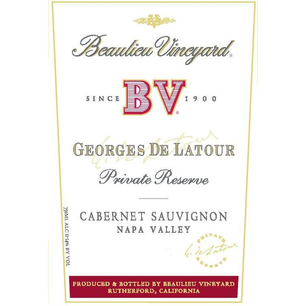 Beaulieu Vineyard Georges de Latour Private Reserve 2007 Front Label