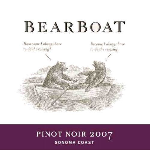 BearBoat Sonoma Coast Pinot Noir 2007 Front Label