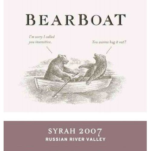 BearBoat Syrah 2007 Front Label
