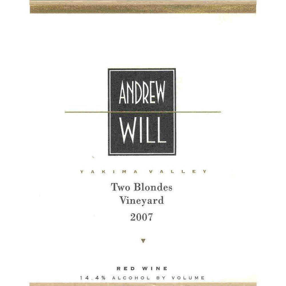 Andrew Will Winery Two Blondes Vineyard Red 2007 Front Label