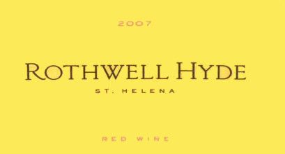 Abreu Vineyards Rothwell Hyde Red 2007 Front Label